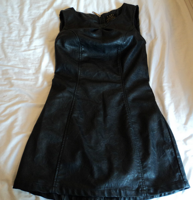 http://www.ebay.co.uk/itm/LADIES-RIVER-ISLAND-L-ART-BLACK-LEATHER-LOOK-MINI-DRESS-SIZE-8-THIS-SEASON-/321087725228?pt=UK_Women_s_Dresses&hash=item4ac251deac