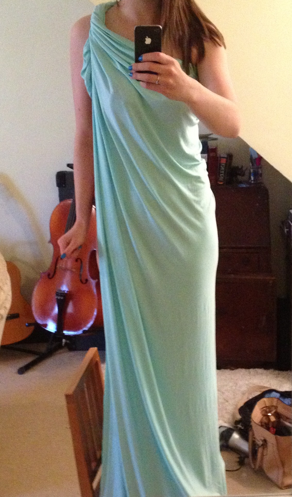 Diy Grecian Maxi Dress Simple 20 Min Tutorial Pauper To Princess