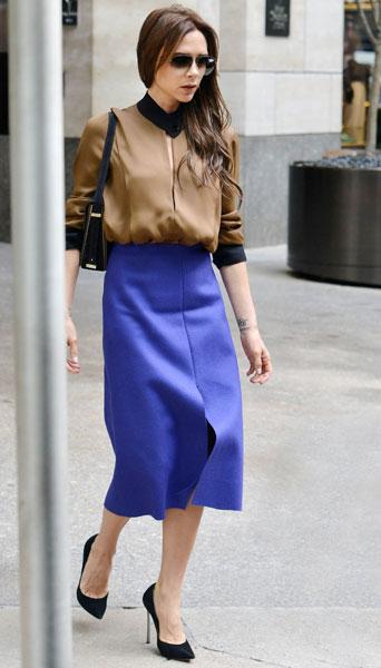 Victoria-Beckham-Style-blue-skirt