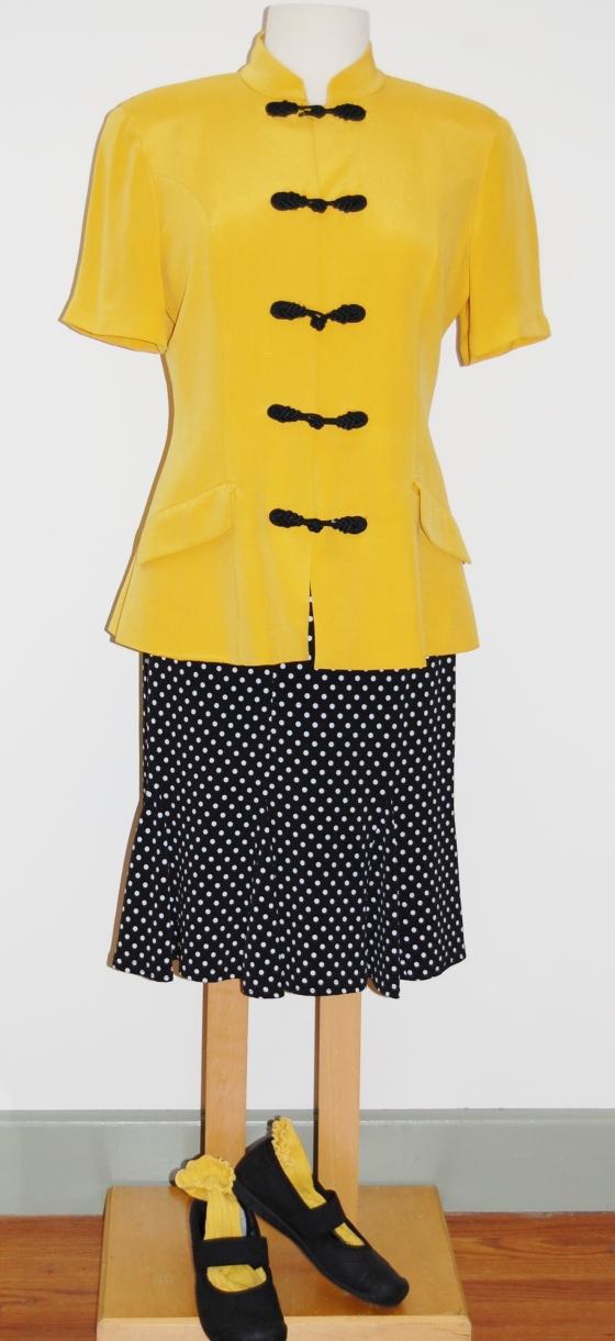 Yellow Silk Tunic 008