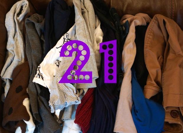 Declutter challenge Day 21