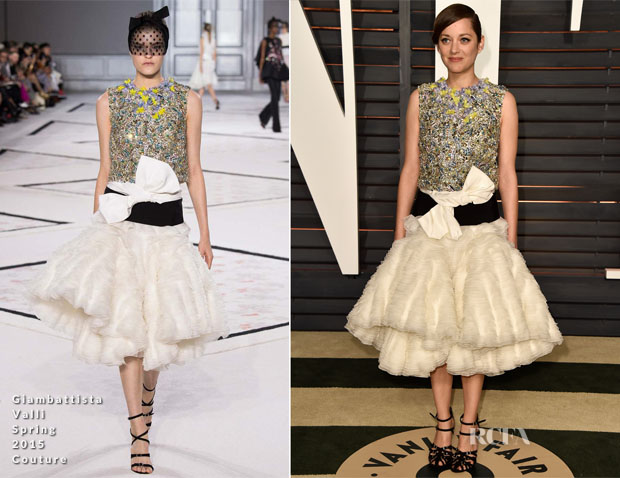 Marion-Cotillard-In-Giambattista-Valli-Couture-2015-Vanity-Fair-Party